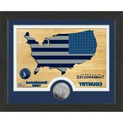 "Minnesota Timberwolves Highland Mint 9"" x 11"" Country Bronze"