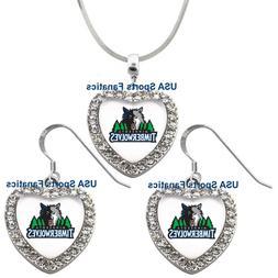 Minnesota Timberwolves 925 Necklace/ Earrings or Set Team He