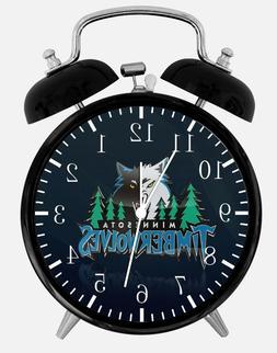 "Minnesota Timberwolves Alarm Desk Clock 3.75"" Home Office De"