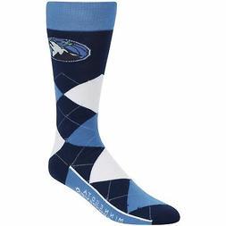 Minnesota Timberwolves For Bare Feet Argyle Crew Socks - Blu