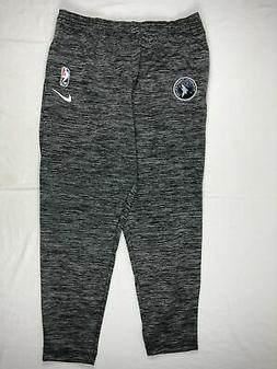 Minnesota Timberwolves Nike Athletic Pants Men's Gray Dri-Fi
