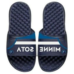 minnesota timberwolves away jersey split slide sandals