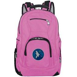minnesota timberwolves backpack laptop pink