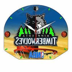 Minnesota Timberwolves Basketball Backboard Wall Clock New M