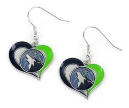 Minnesota Timberwolves Basketball Logo NBA Heart Swirl Charm