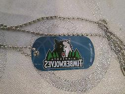 NBA Minnesota Timberwolves Blue Logo Dog Tag Necklace backpa