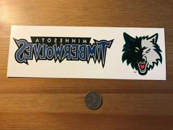 Minnesota Timberwolves bumper sticker from 1990s