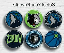 "Minnesota Timberwolves Buttons 1.25"" NBA Team Hat T-Shirt Je"