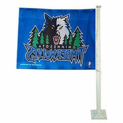 Minnesota Timberwolves Car Auto Window Flag