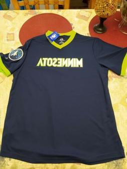 Majestic Minnesota Timberwolves Cool Base Shirt Men's Larg