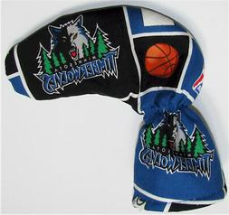 MINNESOTA TIMBERWOLVES Golf Club Headcover / Puttercover/ Pu