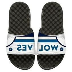 minnesota timberwolves home jersey split slide sandals