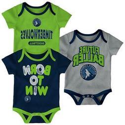 Minnesota Timberwolves Infant Creeper Set Lil Tailgater 3 Pa