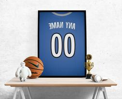 Minnesota Timberwolves Jersey Poster-Personalized Name & Num