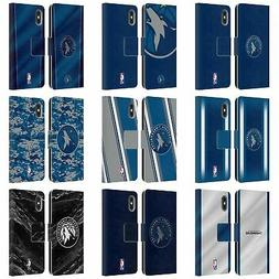 NBA MINNESOTA TIMBERWOLVES LEATHER BOOK CASE FOR APPLE iPHON