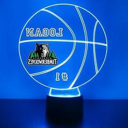 Minnesota Timberwolves Light, Personalized FREE, Basketball