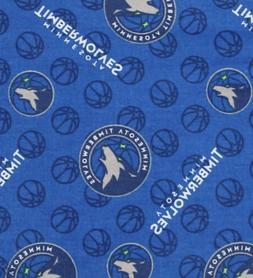 Minnesota Timberwolves - Logo Toss - NBA Cotton Fabric 1/4 Y