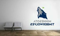 Minnesota Timberwolves Logo Wall Decal Basketball NBA Decor