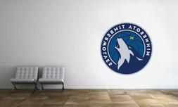 Minnesota Timberwolves Logo Wall Decal NBA Basketball Decor