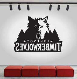 Minnesota Timberwolves Logo Wall Decal NBA Sport Sticker Dec