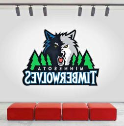 Minnesota Timberwolves Logo Wall Decal Sports Sticker Decor