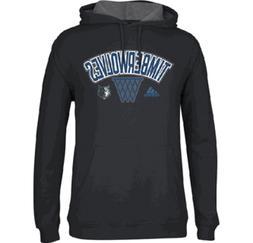 Minnesota Timberwolves Mens Black Adidas Embroidered Playboo