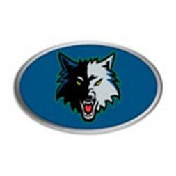 Minnesota Timberwolves Metal Oval Color PV Chrome Auto Emble
