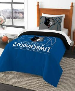 Minnesota Timberwolves NBA Basketball Twin Comforter & Pillo