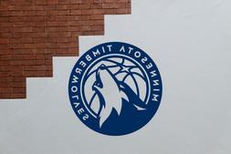 Minnesota Timberwolves NBA Basketball Wall Decal, 22in x 22i
