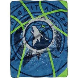 "Minnesota Timberwolves NBA Blanket Throw 60 x 80"" Raschel Sh"