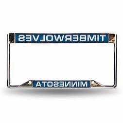 Minnesota Timberwolves NBA Chrome Metal Laser Cut License Pl