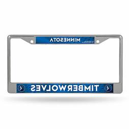 Minnesota Timberwolves NBA Chrome Metal License Plate Frame