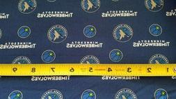 "Minnesota Timberwolves NBA Cotton Fabric 1/4 Yd 9""x 44"""