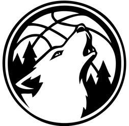 "Minnesota Timberwolves NBA Decal ""Sticker"" for Car or Truck"