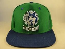 Minnesota Timberwolves NBA Adidas Snapback Hat Cap Green Blu
