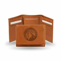 Minnesota Timberwolves NBA Team Logo Embossed Brown Leather