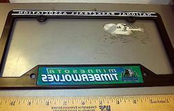 Minnesota Timberwolves NBA  team Plastic License Plate Frame
