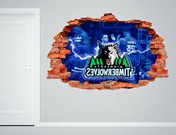 Minnesota Timberwolves NBA Wall Decal Living Room 3D Wall Pa