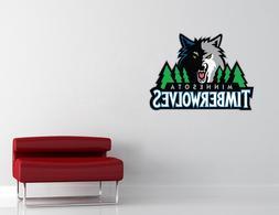 Minnesota Timberwolves NBA Wall Decal Vinyl Sticker Decor EX