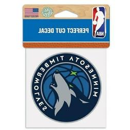 "Minnesota Timberwolves Perfect Cut 4""x4"" Color Decal  Auto S"