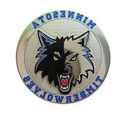 Minnesota Timberwolves Round Metal NBA Logo Magnet