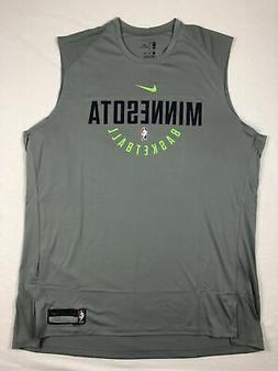 Minnesota Timberwolves Nike Sleeveless Shirt Men's Gray Dri-