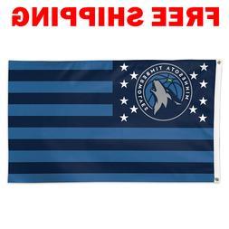 Minnesota Timberwolves Stars Stripes Flag 2018 NBA Basketbal