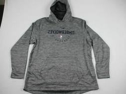 Minnesota Timberwolves Nike Sweatshirt Men's Gray Dri-Fit Ne