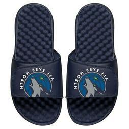 minnesota timberwolves team playoff sandals navy