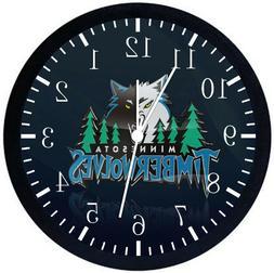 Minnesota Timberwolves Black Frame Wall Clock W291