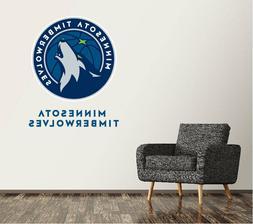 Minnesota Timberwolves Wall Decal Logo NBA Art Sticker Vinyl