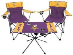 minnesota vikings set table and 2 chairs