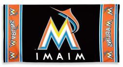 "MLB Miami Marlins Wincraft 30"" x 60"" Fiber Reactive Beach Po"