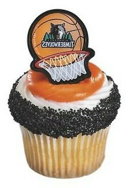 NBA Cake Toppers Minnesota Timberwolves Cupcake Rings Basket